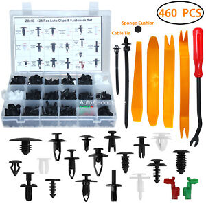 Auto Body Retainer Clips Plastic Fasteners Push Rivets Clips Set Tailgate Handle