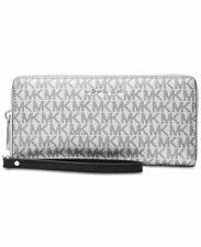 Michael Kors Boxed Metallic Silver Signature Travel Continental Wallet RRP $168