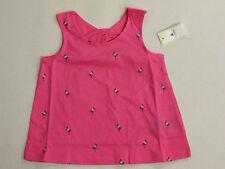 NWT Baby Gap Girls Size 12-18 Months Pink Flamingo Knot Tank Top Shirt
