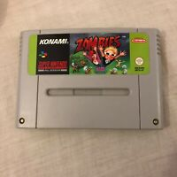 Super Nintendo (SNES)  ZOMBIES - Retro Video Game - Konami - Tested - Cart Only