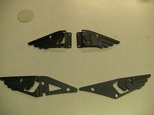 BUELL 1125 1125CR   BLACK    HEEL GUARDS 2002-2013   FULL  SET (FRONT AND BACK)