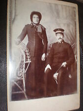 Cdv Cabinet old photograph salvation army couple by Ellis at Sidmouth c1880s