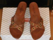ELLA Slip on Brown Sandals Size 6 UK EU 39