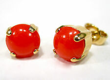 SoHo® Ohrstecker original 1960er Jahre handgemachte Glassteine coral rot orange