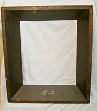 Vintage Edison Phonograph Walnut Wood Lid Cover Wide Picture Frame Re-purposed