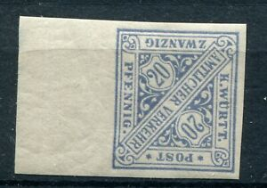 GERMANY WURTTEMBERG 1881 SCOTT O100 SCARCE IMPERF PROOF SUPERB MNH SEE SCANS