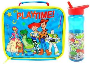 Toy Story Insulated Lunch Bag + Sports Bottle Woody Buzz BACK TO SCHOOL RED LID