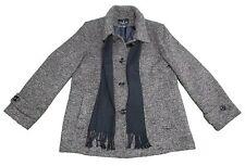 NEW London Fog Ladies X-Large Tweed Peacoat w/Scarf, Brown Tweed