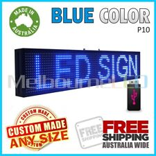LED SIGN  Blue Scrolling Programmable Moving Message Window Display 670x190