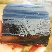 855g Natural Black Tourmaline Crystal Stone Gem Original Mineral Specimen