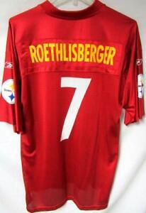 Pittsburgh Steelers Mens XL Roethlisberger #7 Super Bowl XLV Jersey A1 2537