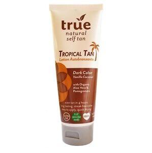 True Natural Tropical Tan Streak Free Self Tanner Dark Vanilla Coconut 3.4oz