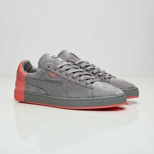 Puma Suede x Staple Gray/Pink 361617-03 Men Size US 12 NEW 🚚✅