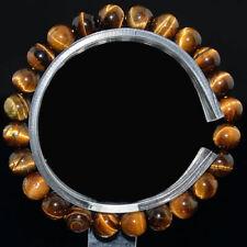 Wholesale 6-12mm Yellow Tiger Eye Bracelet Natural Stone Beaded Stretch Bracelet