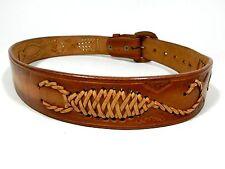 Brown Leather Belt Scorpion Size 32