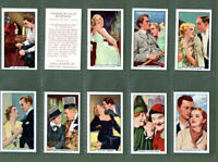 Tobacco cigarette cards Famous Film Scenes 1935 set
