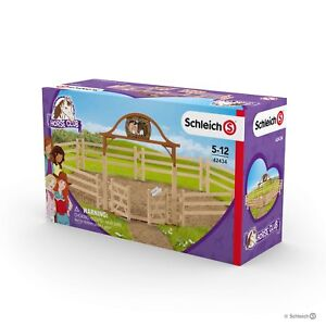 Brand New Schleich Paddocks Paddock Horse Stable Fences with Entry Gate 42434