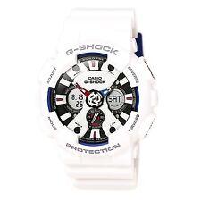 Casio GA120TR-7A Gent's Ana-Digi Dial White Strap Quartz Watch