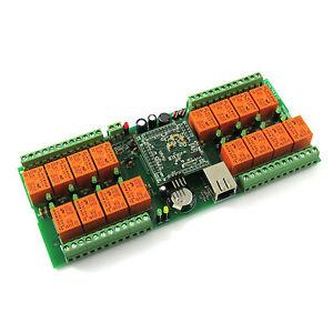 Denkovi LAN Ethernet SNMP IP 16 Relay board - smartDEN, 24VDC