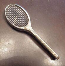 Vintage Badminton Racket Tie Clip Clasp - Swank