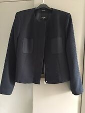 NEW! PAUL SMITH BLACK LABEL BLUE/BLACK ZIP FRONT TAILORED JACKET £450