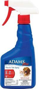 Adams Plus Flea & Tick Spray 16oz  (2 Pack) (Free Shipping in USA)