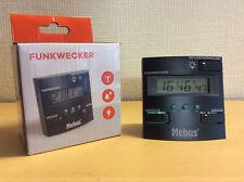 Digital Wecker Funkuhr + Datum Hintergrundbeleuchtung Tischuhr 12/24h Mebus