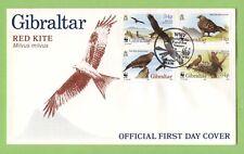 Gibraltar 1996 Red Kite, Birds set on First Day Cover