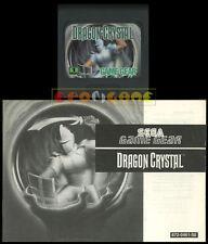 DRAGON CRYSTAL Game Gear Versione Europea ••••• CARTUCCIA E MANUALE