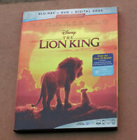DISNEY THE LION KING BLU-RAY + DVD + DIGITAL CODE WITH SLIPCOVER BRAND NEW