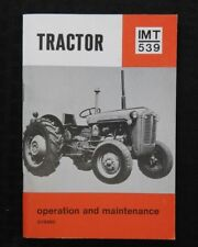 GENUINE IMT 539 RUSSIAN BUILT TRACTOR OPERATORS MANUAL EXCELLENT SHAPE FREE SHIP