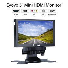 "Eyoyo 5"" HDMI VGA BNC AV input Monitor Home Security Car RearView Metal Housing"