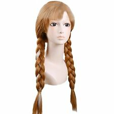 Disney Frozen Hair Anna Princess Adult Ponytail Wig For Cosplay Party Halloween