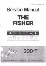 Fisher service manual pour récepteur 200-t