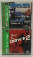Driver 1 + 2 - Playstation 1 2 PS1 PS2 Game Complete Working Tested Lot