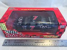 1997 Racing Champions Geoff Bodine #7 QVC NASCAR 1:24 Scale Diecast Stock Car