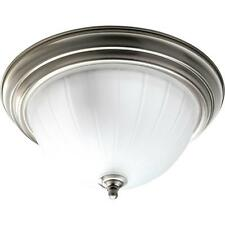 PROGRESS LIGHTING P3817-09 Brushed Nickel 2-Light Flush Mount Light Fixture NEW