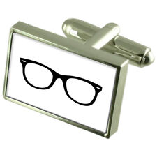 Glasses Spectacles Sterling Silver 925 Cufflinks Boxed