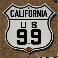 California CSAA US route 99 highway marker road sign auto club AAA Sacramento