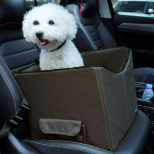 Dog Car Booster Seat Small Dog up to 15 Pounds Take1 Seat Brown NOB