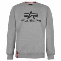 Mens Alpha Industries Basic Sweater Crew Long Sleeve New