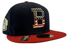 New Era Boston Red Sox MLB 59FIFTY USA Navy Stars & Stripes 4th of July Size 7