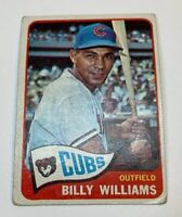 1965 Topps # 220 Billy Williams Baseball Card Chicago Cubs HOF