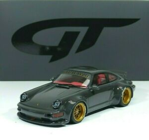 Porsche 911 (964) RWB Rhau Welt Body-Kit 2020 gray / gold 1:18 GT816 GT-Spirit
