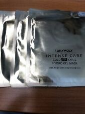 TONY MOLY Intense Care 24K Gold Snail Hydro Gel Mask Sealed (3 Pack)- New