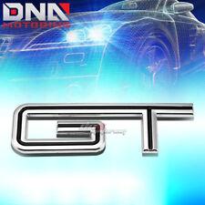 FOR FORD MUSTANG GT STICK ON 3D CHROME BLACK AUTO METAL EMBLEM TRIM BADGE LOGO