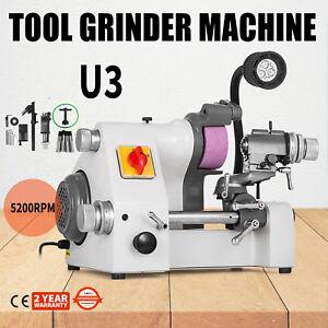 U3 Universal Cutter Grinder Sharpener 3 Attachments Lathe Tool Less Vibration