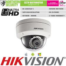 UK HIKVISION 4MM DS-2CD2152F-I 5MP 1080P IR POE VANDAL DOME IP SECURITY CAMERA