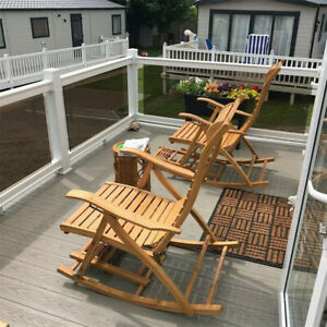 Patio Balcony Rocking Swing Chair Outdoor Seat Rocker Recliner Armchair Lounger