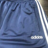 🌴🔥Adidas Mens Activewear Side Button Sweatpants Medium M Blue🔥🌴Free Shipping